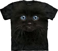 The Mountain Maglietta Black Kitten Face Cats Bambino Unisex