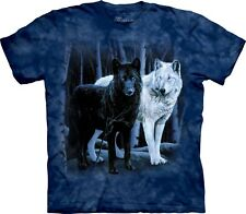 The Mountain Maglietta Black and White Wolves Adulto Unisex