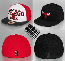 Lote 2 x gorras planas NEW ERA 59fifty Chicago Bulls NBA fitted hat cap joblot