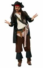 Adult Captain Jack Sparrow Mens  Pirates of the Caribbean Costume New