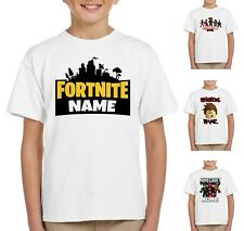 Kids Personalised Gamer Tag Name T-shirts - Gaming GAMERS PS4 XBOX Fortnite