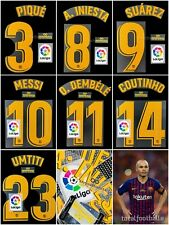 Fc Barcelona 2018-19 Infinit Iniesta Full Set number Avery Player Issue Messi