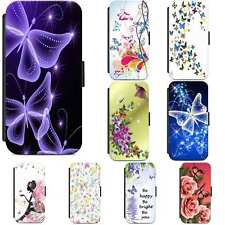 Butterfly Beautiful Flowers Designer Flip Case Phone Cover Samsung S5 S6 S7 S8