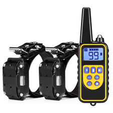 800m Waterproof Rechargeable Remote Dog Electric Training Collar Black New