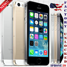 "Apple Iphone 5S (16GB 32GB 64GB) ""Factory Unlocked"" Phone 8MP 4"" HD Refurbished"