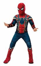 Child Avengers Infinity Wars Iron Spider Spider-man Deluxe Boys Costume New