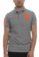Superdry Herren Polo CLASSIC SS SUPERSTATE Harbour Grey Grindle