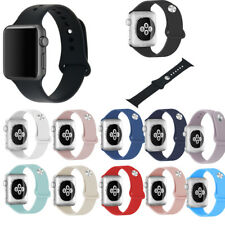 Replacement Bracelet Silicone Sport Band Strap For Apple Watch iWatch 38mm 42mm