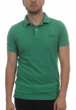 SUPERDRY HOMME POLO VINTAGE DESTROY SS Pique MATCH Vert