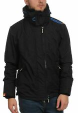 Superdry Chaqueta de hombre capucha Technical CORTA VIENTOS Black Electric Azul