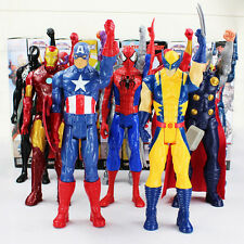 "MARVEL AVENGERS 12"" WOLVERINE SPIDERMAN THOR CAPTAIN AMERICA IRON MAN FIGURES"