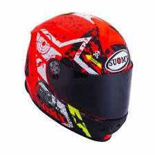 CASCO INTEGRALE SUOMY SR SPORT RACING STARS ORANGE PISTA MOTO RED ORANGE FLUO