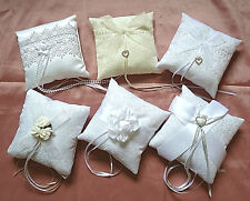 """wedding ring pillow, 7 styles to select from. All 6"""" square Wedding ring cushion"""
