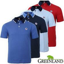 Polo uomo manica corta GREENLAND 100% cotone jersey con colletto in contrasto