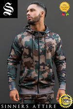 SINNERS Camo Poly Track Hoodie - Sinners Attire Gym Hoodie