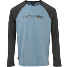 Animal Action Mens T-shirt Long Sleeve - Castle Grey All Sizes