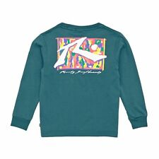 Rusty Splatz T-shirt Long Sleeve - Washed Sea Green All Sizes