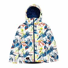 Quiksilver Mission Printed Jacket Snowboard - White Youth Thunderbolts All Sizes