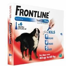 Frontline Spot On Chien 40-60kg - 6xPipettes 4.02ml 1 2 3 6 12 Packs