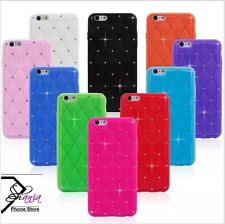 COQUE APPLE IPHONE 5/5S SILICONE CAOUTCHOUC MATELASSÉE STRASS BRILLANTS