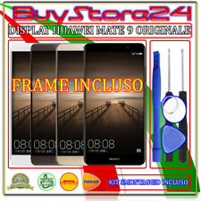 VETRO DISPLAY LCD TOUCH SCREEN HUAWEI MATE 9  ORIGINALE + FRAME +KIT SMONTAGGIO