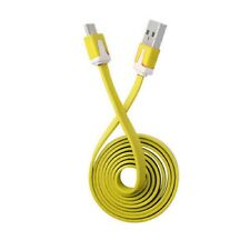 Yellow Micro Flat USB Sync Charger Cable for Samsung Galaxy S7 S7 Edge S6 Edge