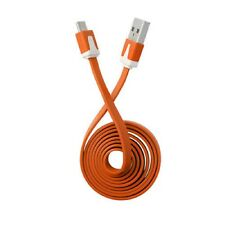 Orange Micro Flat USB Sync Charger Cable for Huawei P9 Lite P8 P8 Lite Mate S