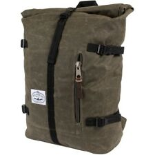 Poler Outdoor Stuff Classic Rolltop Unisex Rucksack - Waxed Burnt Olive One Size