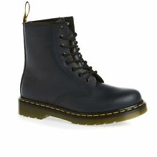 Dr Martens 1460 Smooth Femme Bottes - Navy Toutes Tailles