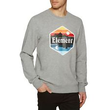 Element Dusk Crew Homme Pull Sweater - Grey Heather Toutes Tailles