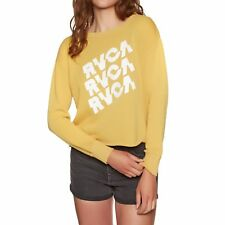 Rvca Slice Femme Pull Sweater - Harvest Gold Toutes Tailles