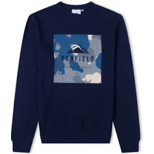Penfield Cullen Homme Pull Sweater - Peacoat Toutes Tailles