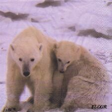 PAQUETE 20 TOALLAS PAPEL OSO POLAR. PACK 20 PAPEL SERVILLETAS POLA BEAR