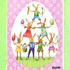 PAQUETE 20 TOALLAS PAPEL PASCUA LAPINS.PACK 20 PAPEL SERVILLETAS EASTER RABBIT