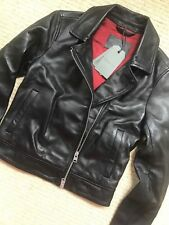 "ALL SAINTS WOMEN'S BLACK ""LOWELL"" LEATHER BIKER JACKET COAT - UK 4 - NEW & TAGS"