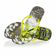 Havaianas Slim Paisage Femme Chaussures Tongs - White/yellow Toutes Tailles