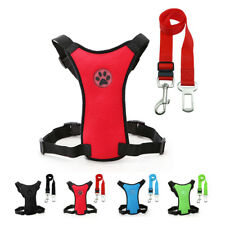 Nylon Pet Dog Car Harness with Seat belt Clip Lead Safety For Dogs Travel