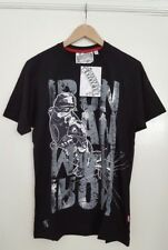 NEW Men's Official Iron Man Black Marvel Extreme T-Shirt | BNWT Comics Film Grey