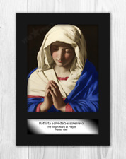 Madonna in Prayer by Sassoferrato A4 mounted painting poster. Choice of frame.