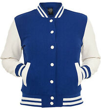 URBAN CLASSICS blue/white college oldschool jacket woman giacca donna cod.TB217_