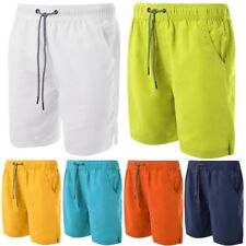 Mens Soulstar Drawstring Waist Summer Beach Swimming Plain Board Shorts Size ...