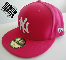 Gorra visera plana NEW ERA 59fifty NY New York rosa hot pink rap fitted hat cap