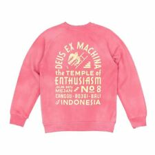 Deus Ex Machina Sunbleached Enthusiasm Crew Sweatshirt - Rose/Yellow