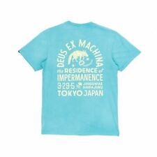 Deus Ex Machina Sunbleached Impermanence T-Shirt - Lagoon/Yellow
