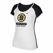 NHL Boston Bruins adidas Authentic Skate Lace T Shirt Womens