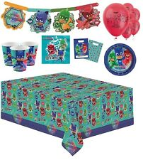 PJ Masks Party Tableware Children Birthday Party Kit for 16 Including Wrist Band