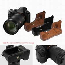 PU Leather Camera Case Half Bag Cover Battery Open For Sony ILCE9 A9 A7III W5S7