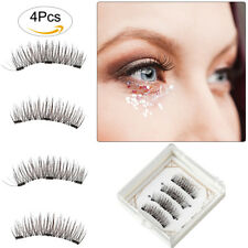 4pcs 3D Faux Cils Magnétiques Naturel Extension Lashes Maquillage sans colle