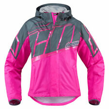 ICON Mujer PDX 2 Impermeable Mujer Moto Cubierta Chaqueta Rosa