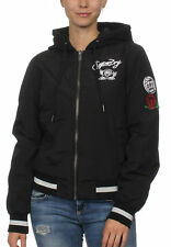 SuperDry GIACCA BOMBER DONNA KADY con cappuccio Giacca bombergiacca BOMBER BLACK